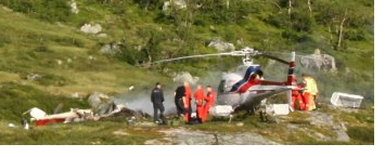 Names Released in Construction Chopper Crash in Norwegian Mountainscape