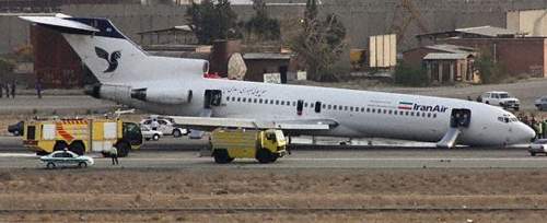 Iran Air Sans Nose Gear