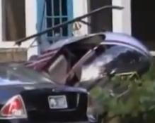 Chopper Crashes Palm Beach House