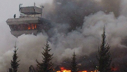 Fire Consumes  Krasnojarsk Cheremshanka Airport Terminal