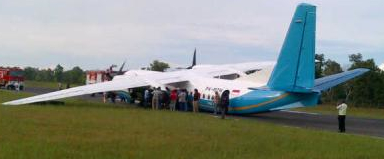 Merpati Nusantara Beached Plane Shuts Down Airport