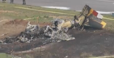North Carolina Private Cessna Crash and Burns on Landing
