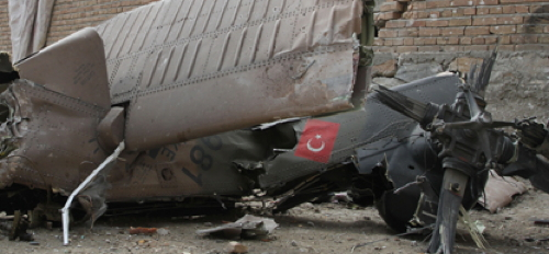 Turkish Helicopter Crashes Killing a Dozen Military, Plus Civilians on the ground