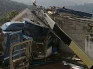 Helicopter crashes into houses in Antigua, 4 Injured