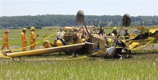 Agricultural Accident-two cropdusters collide