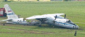An-30B Crash-lands in Fiery Blaze In Cáslav