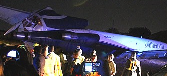 Cargo Flight Crashes Van