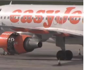Easyjet Airbus Engine Shut Down in Malta
