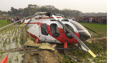 No Fatalities in Bangladesh Helicopter Crash