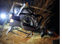 Helicopter Crashes in Slovakia's Vah River