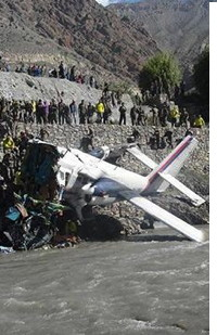 Nepal Airlines Crash Landing in Jomsom