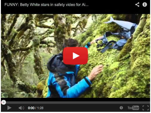 Betty White Flying High on New Zealand