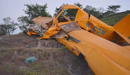 LAGOA FORMOSA MG Investigating Crop Duster Crash