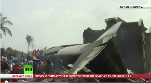 Indonesian Hercules Crash Due to power loss according to Air Marshall