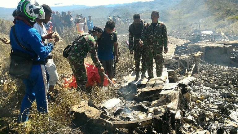 Indonesian Military Plane Crashed in Papua; 13 Killed